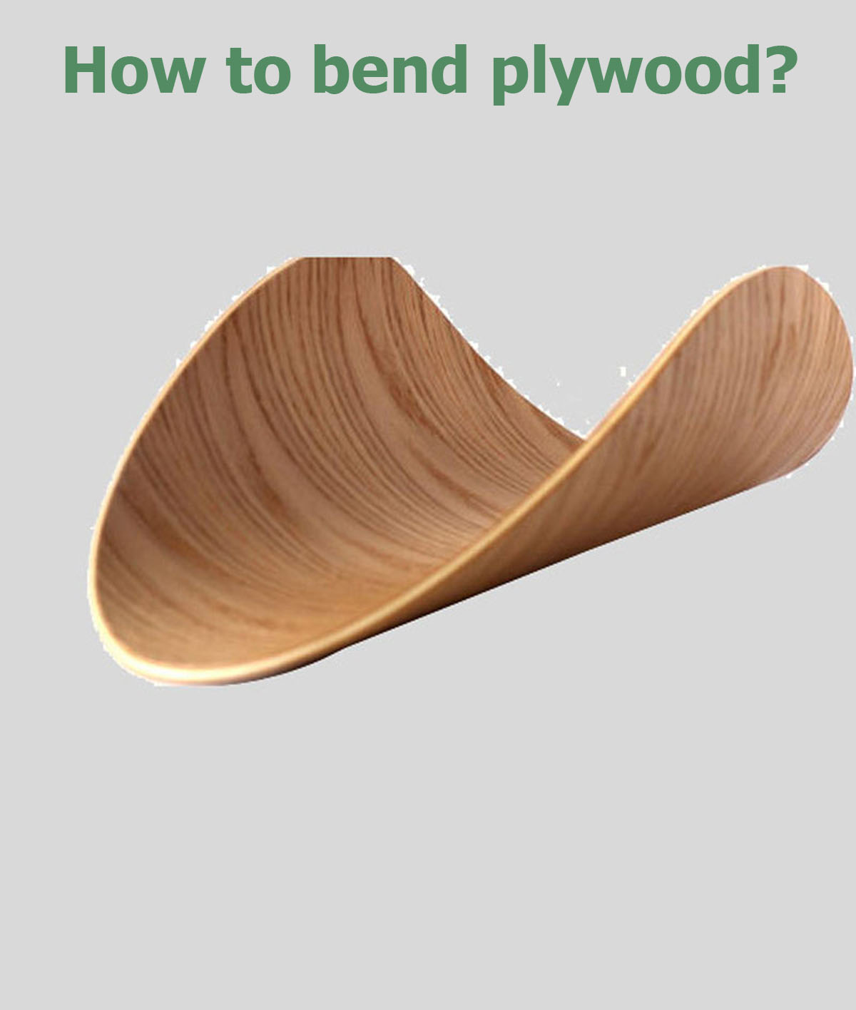 how to bend plywood